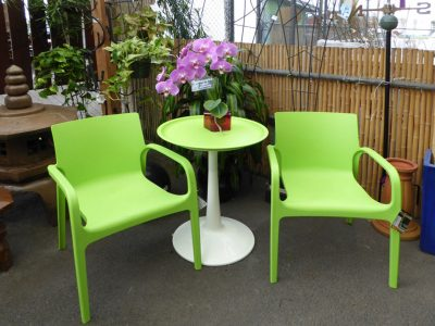 Green-outdoor-chairs